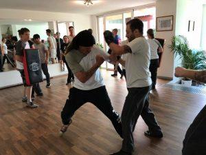 Ein Kampfsportler